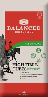Fibre based horse and pony nut