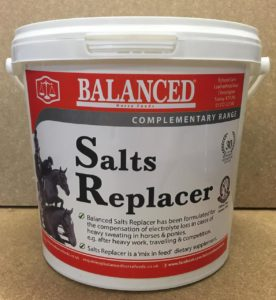 electrolytes for horses and poniesBalanced Salts Replacer